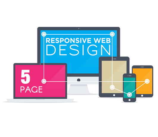 Web Design 5 Page - Nubrand Media